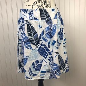 Tommy Bahama Blue/White Floral Stretch Skirt